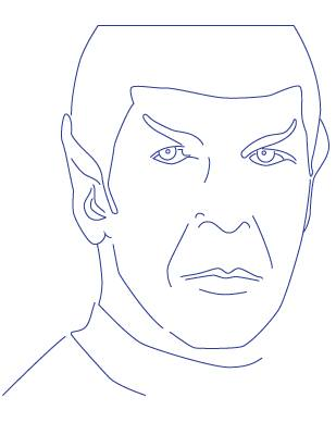 Spock Vector Drawing