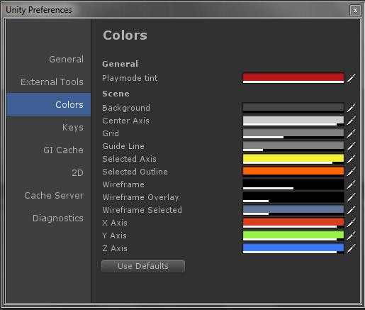 Playmode Color