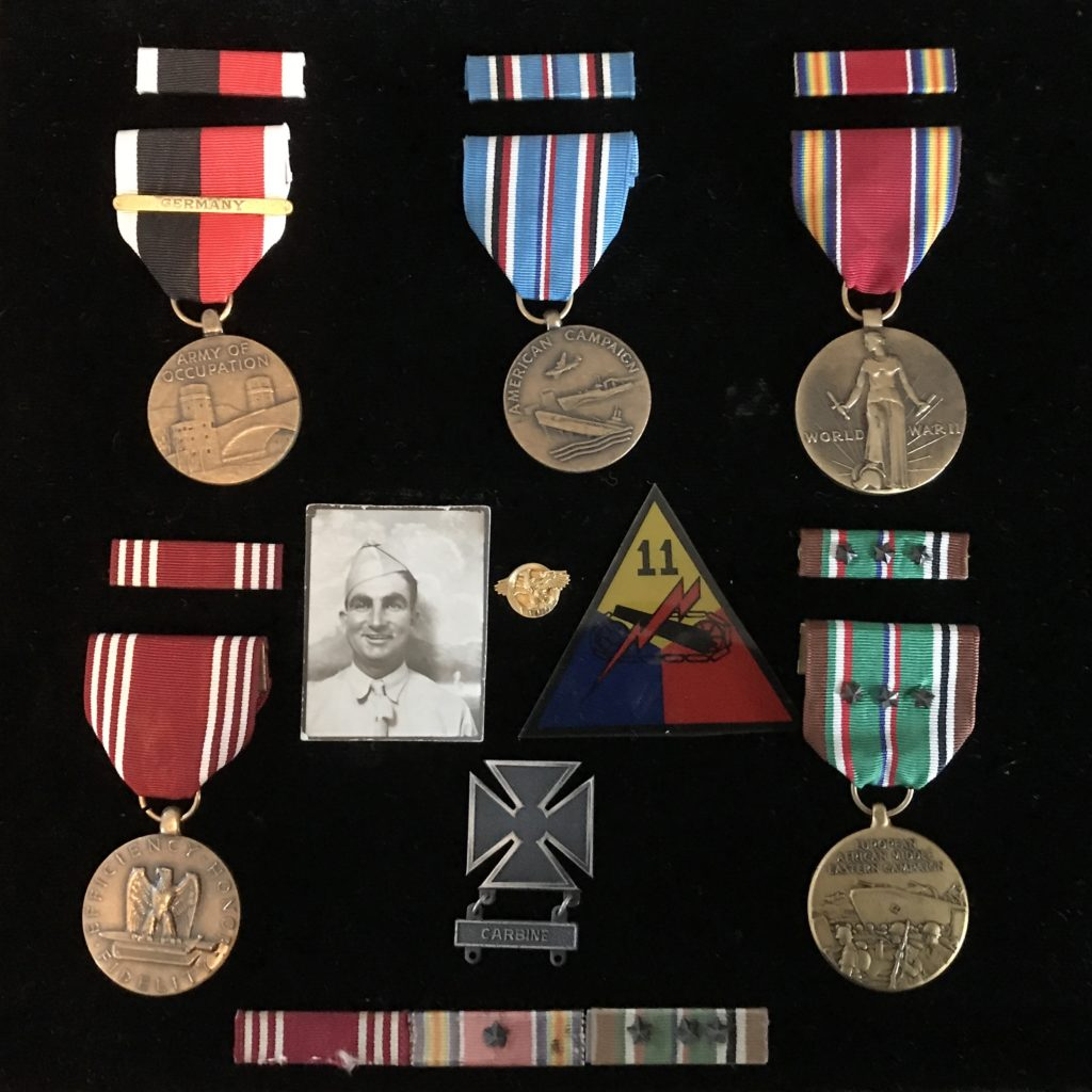 WWII soldier medals